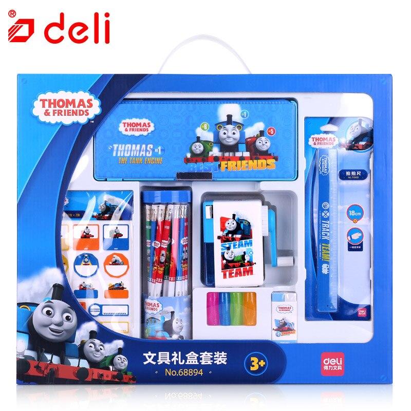 Ensemble de papeterie Deli Thomas ensemble d'outils d'apprentissage pour étudiants ensemble de crayons/crayons, etc. Kits pour enfants cadeaux fournitures scolaires et de bureau