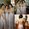 Cap Festa de Casamento Da Dama de Honra Vestidos Beading Apliques de Renda de Manga Comprida Vestido Formal vestido De Dama De Honra Vestidos de Noivas Vestido de Empregada Doméstica