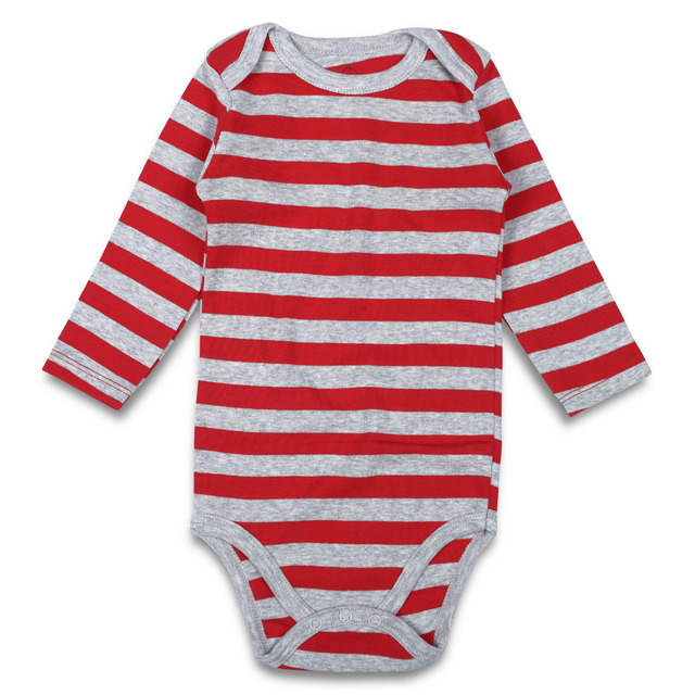 2d54f8bb3c87 Newborn Baby Bodysuit Striped 100% Cotton Baby Girl Clothes Long Sleeve  Baby Boy Clothing Unisex Infant Jumpsuit 0-3 Months