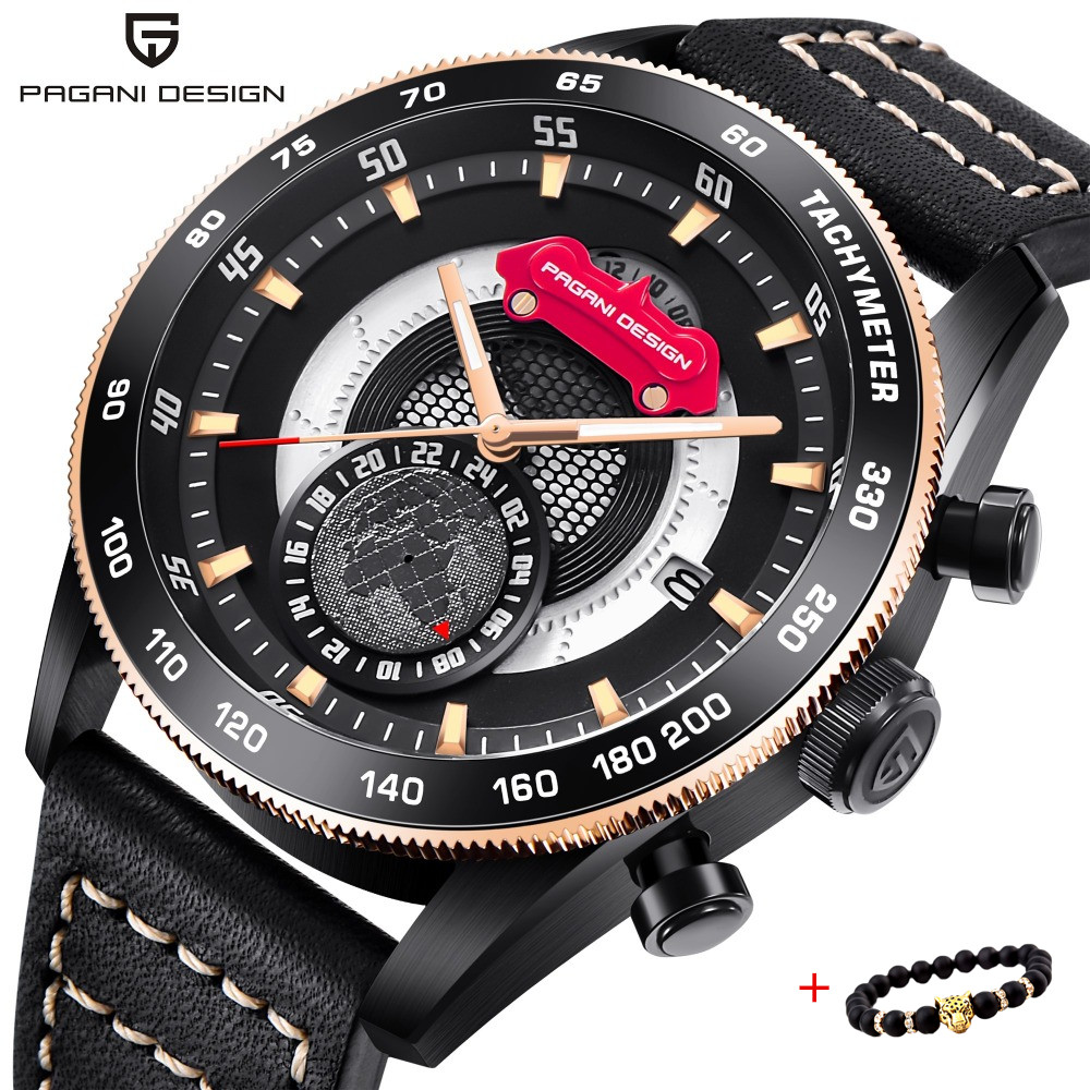 Luxury Brand 2018 PAGANI DESIGN Chronograph sport Watch Stainless Steel Case Waterproof Leather Quartz Watch Relogio Masculino Luxury Brand 2018 PAGANI DESIGN Chronograph sport Watch Stainless Steel Case Waterproof Leather Quartz Watch Relogio Masculino