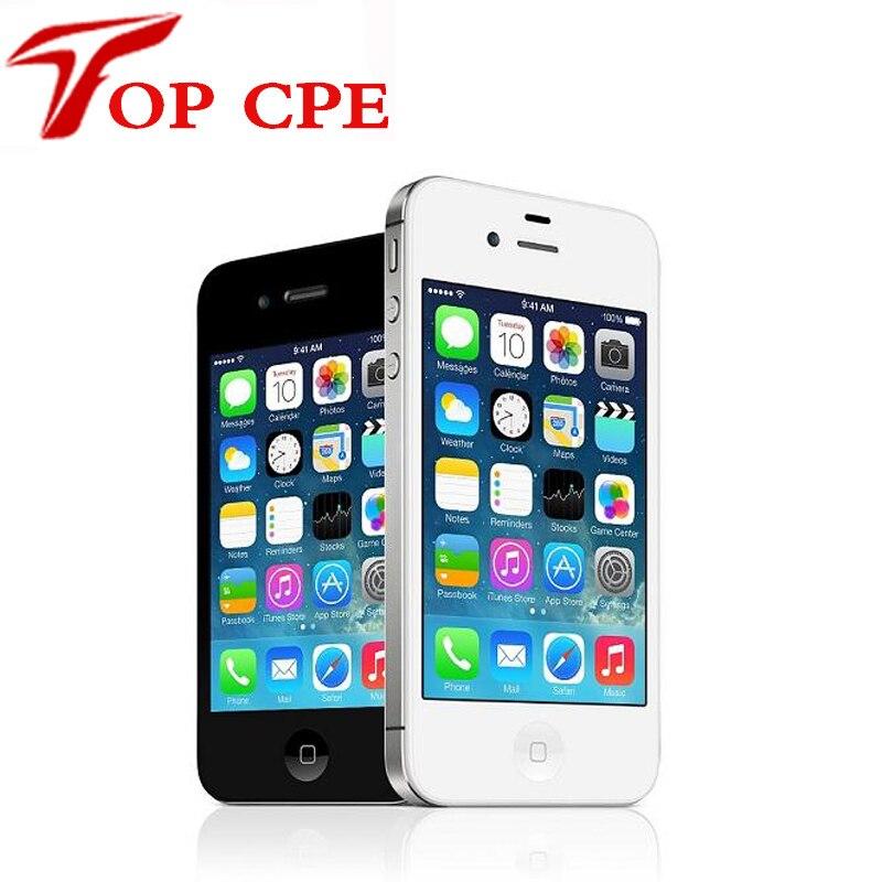 Цена за Оригинал factory unlocked apple iphone 4s 8 ГБ 16 ГБ 32 ГБ 64 ГБ 3.5 ''8MP Камера Dual Core GSM WCDMA WI FI IOS Используется мобильный телефон