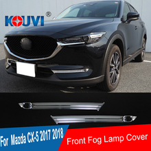4pcs ABS FRONT FOG LIGHT COVER TRIM STICKER MOLDING GARNISH LAMP ACCESSORIES FIT FOR 2017 2018 Mazda CX-5 CX 5 CX5 fit for mazda cx5 cx 5 kf series 2017 2018 side door body molding trim cover line garnish sticker accessories 4pcs set