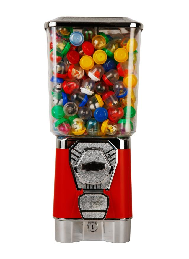 GV18F Candy vending machine Gumball Machine Toy Capsule/Bouncing Ball vending machines Candy Dispenser With Coin Box good quality coin operated tabletop gumball vending machine desktop capsule vending cabinet toy penny in the slot coin vendor