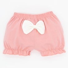 4pieces/lot Girls shorts kids knickers cotton soft cute bowknot Pure Color chlidren underpanties free shipping