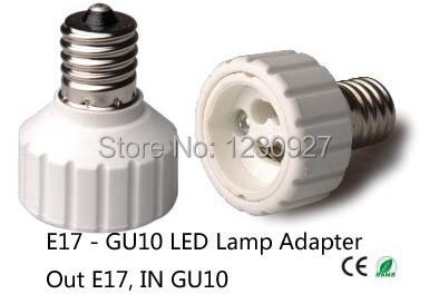 E17 To Gu10 Socket Adapter Led Lighting Lamp Holder Converter