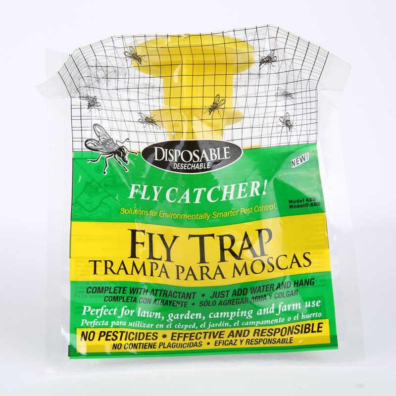 Home Kitchen Tools 2pcs/lot Disposable Fly Trap Outdoor Garden Fly Catcher Bug Insect Killer Pest Control Products 20x30cm gis chino para chinches
