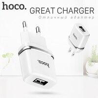 HOCO 5V 1 0A Universal Single USB Charger Wall Charger EU Plug Portable For IPhone Samsung