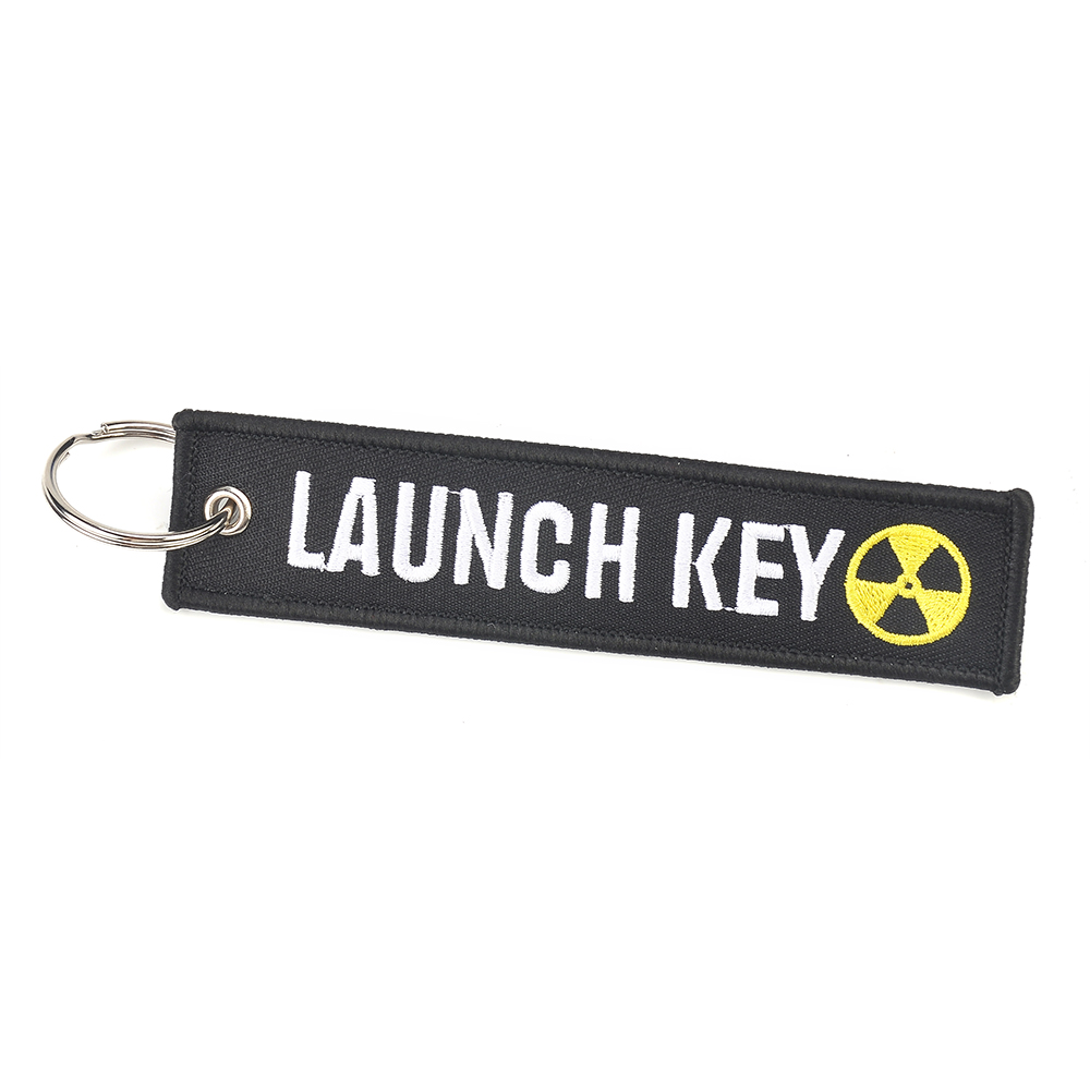 LAUNCH KEY Unique personality Embroidery Keychain Key Ring Luggage Tag Label Car Bag Phone Access jewelry decoration