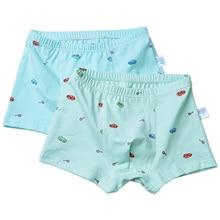 2pcs/Set Soft Print Cotton Boys Boxers Cartoon Car Letter Bear Kids Underwear Panties Briefs Shorts Underpants