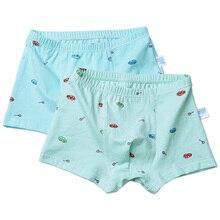 2pcs/Set Soft Print Cotton Boys Boxers Cartoon Car Letter Bear Kids Underwear Bo