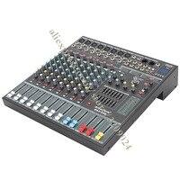 Misturador de Karaoke profissional de Áudio Som 8 Canal Microfone Amplificador de Mistura Console Com USB SD Embutido 48 v Phantom Power