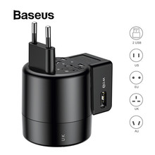 BASEUS Universal USB Travel Charger untuk Samsung Galaxy S8 S9 Plus Berputar USB AC Powered Perjalanan Portable Adaptor Charger Telepon(China)