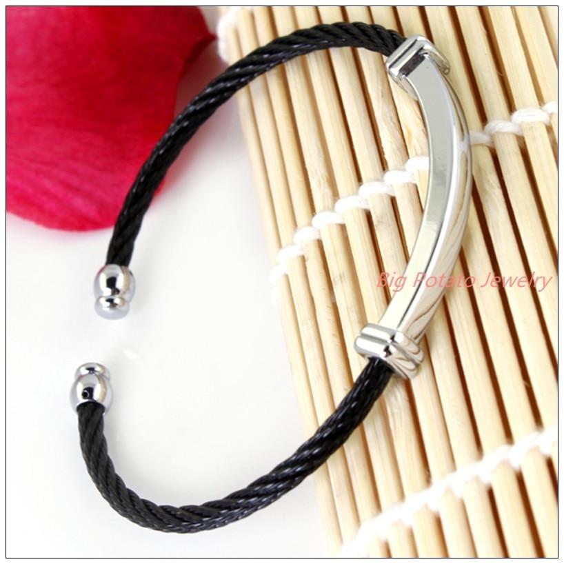 ᑐEnvío libre Classic 100% 316l acero inoxidable de plata tono negro ...