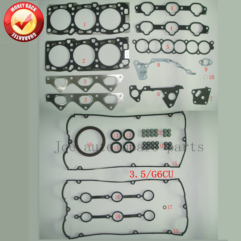 G6CU V6 Engine Full gasket set kit for Hyundai Terracan 3 5L KIA Sorento  3 5L 20910-39D00 50314000
