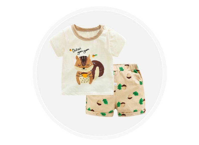 Kids Boys Dinosaur Short Sleeve Tops T-Shirt Shorts Summer Clothes Outfits Sets