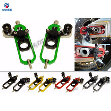 Motorcycle Aluminum Chain Adjusters with Spool Tensioners Catena For Kawasaki Ninja ZX-10R ZX10R 2011 2012 2013 2014 2015 2016