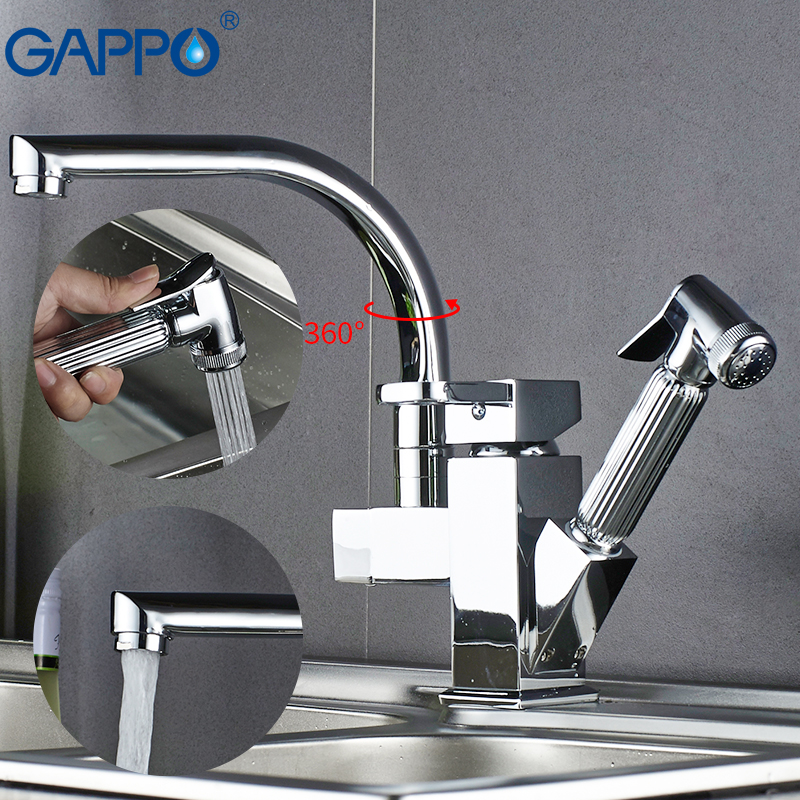 Gappo kitchen Faucets silver kitchen water sink mixer tap rotatable kitchen pull out water mixer deck mounted armatur           Gappo kitchen Faucets silver kitchen water sink mixer tap rotatable kitchen pull out water mixer deck mounted armatur