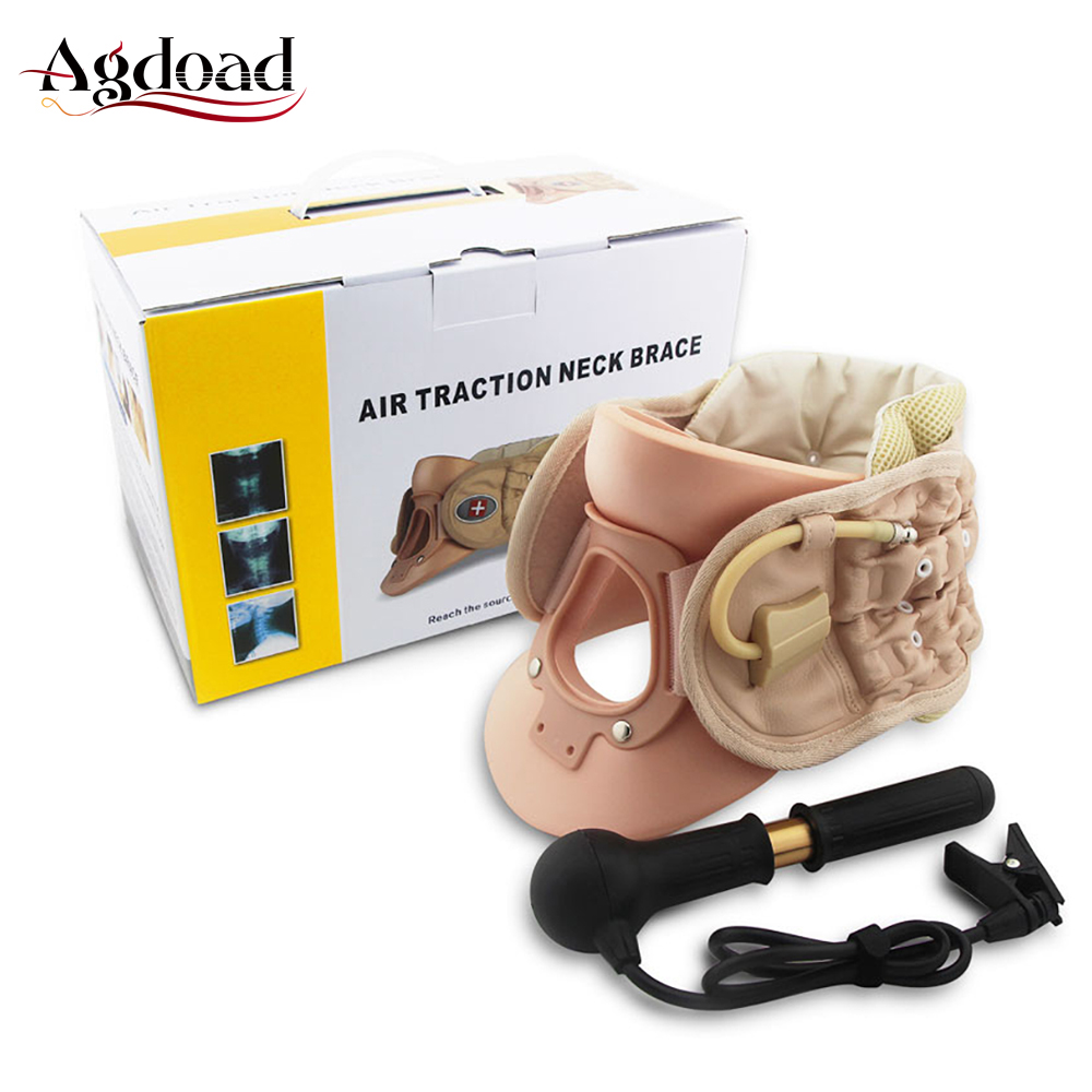 Cervical Support Neck Corrector Brace Stretching Air Traction Device Inflatable Medical Neck Collar