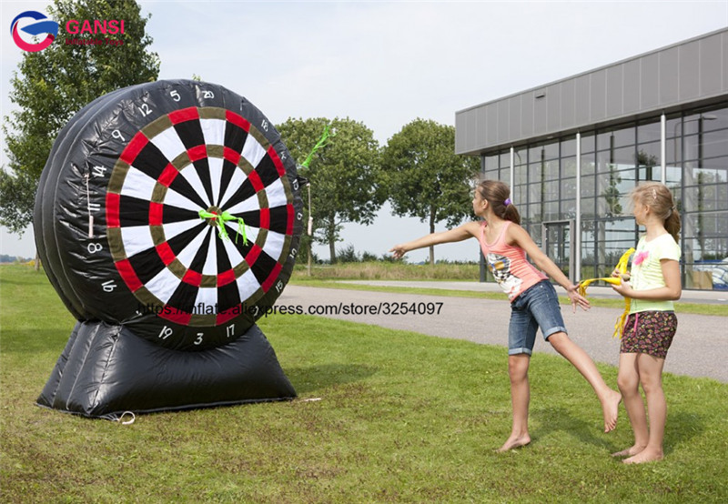Wholesale inflatable foot darts game inflatable dart board for kids playing, kids inflatable dart game,inflatable Mega Darts watch ya mouth game fun mouthguard party board game