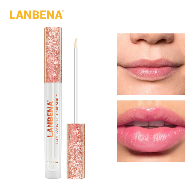 LANBENA cuidado de labios suero lápiz labial reparación Reduce la máscara de labios líneas finas aumentar la elasticidad de labios hidratante Plumper patchestoo