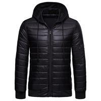Plus Size Winter Men Color Block Hooded Long Sleeve Zip Up Padded Jacket Coat new