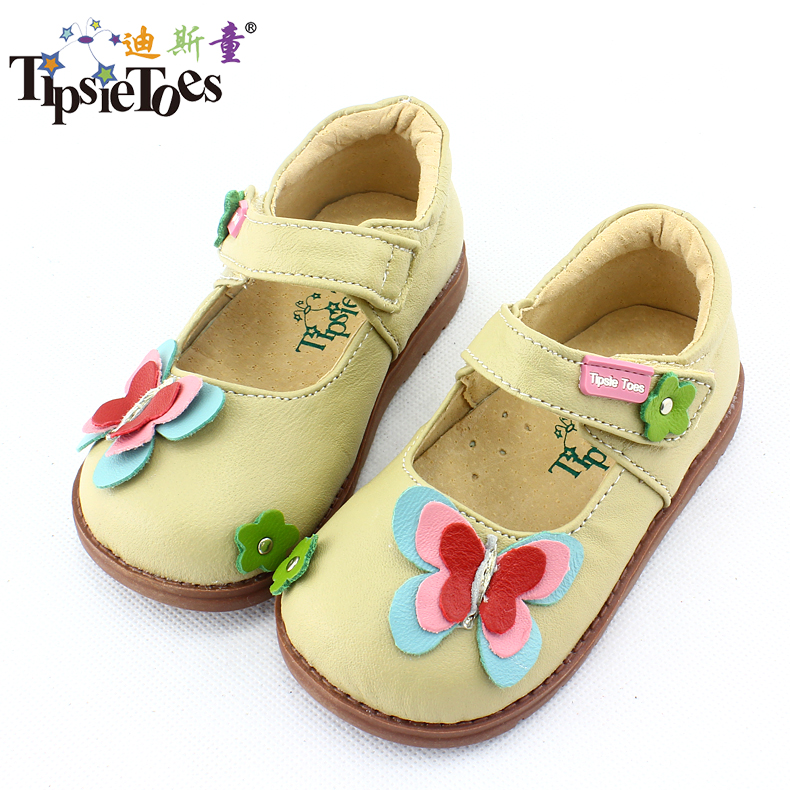 TipsieToes Brand Butterfly Sheepskin Leather Kids Children Sneakers Shoes For Girls Princess New 2019 Autumn Spring 62106