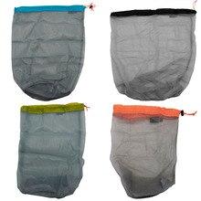 picnic bag Drawstring Mesh Stuff Sack Storage Bag for Tavelling Camping Fishing Sports