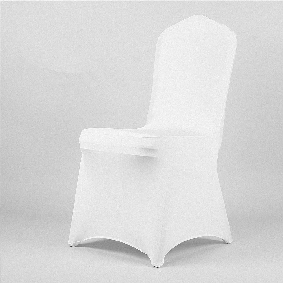 6pcs White spandex Wedding Decoration Spandex dining wedding decoration fabric sashes restaurant chair covers and bows China