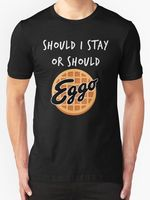 2018 Short Sleeve Cotton T Shirts Man Clothing Stranger Things Should I Stay Or Should Eggo Parody Mens T Shirt Size S To 3XL