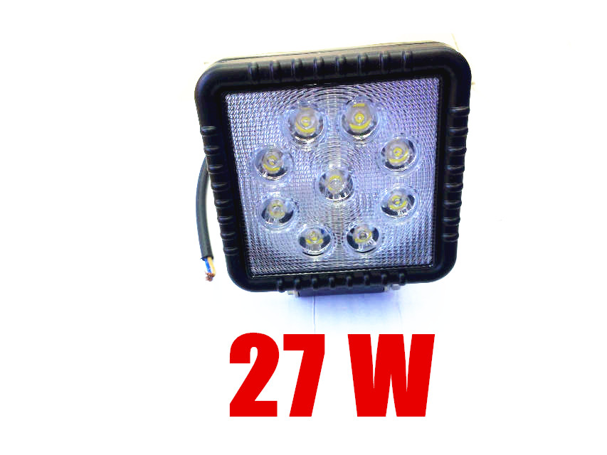 Square 27W 9 LED Work Working Spot Light for Light house Boat Car Truck 12V 24V Traffic Light 2pcs set square 27w car led work light 30 degree spot lamp for working driving off road spot light boat suv truck car
