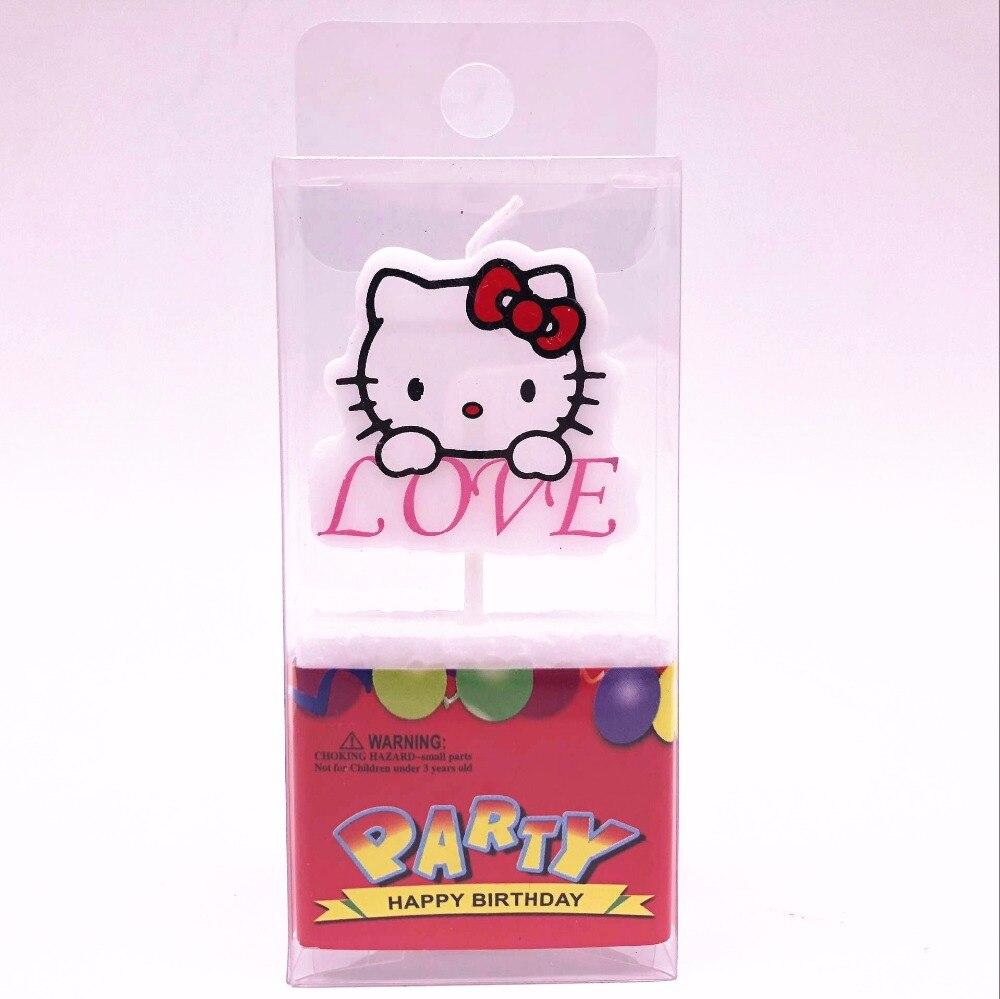 1 Pcs Hello Kitty Love Cartoon Birthday Cake Cupcake Party