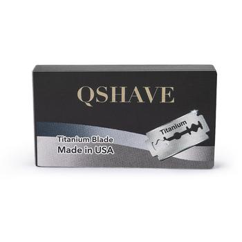 Qshave to żyletka prosta maszynka tytanowe ostrze podwójna krawędź klasyczna żyletka wykonana w USA 100 ostrzy tanie i dobre opinie Razor blade QSHAVE USA Blade RD244