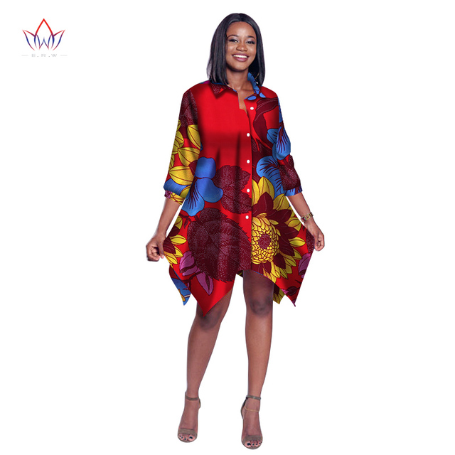 a7d463ad24dc5 US $49.99 |2019 African Print Wax Shirt for Women Dashiki Long Top Africa  Clothing Bazin Plus Size Traditional African Clothing WY2030-in Blouses &  ...