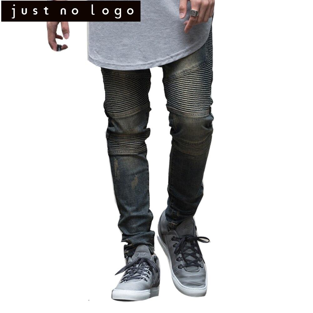 Cheap Men Stretch Biker Denim Jeans Slim Skinny Straight Punk Pants Hiphop Trouser Designer Famous Brand Elastic Rib style Pants thin stretch jeans ripped denim trousers slim skinny black jeans men new famous brand biker jeans elastic mens jeans l702