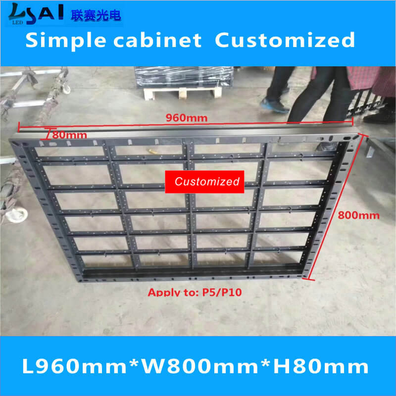 led display cabinet simple cabinet 960mm 800mm Suitable for LED moduleP10 P5 in LED Modules from Lights Lighting