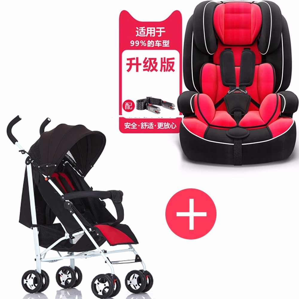 Child safety seat car with baby simple portable increase seat 9 months-12 years old chair and trolley combination SY-YZ210- child safety seat car baby car seat 9 12 years old 3c certified chair and stroller combination set sy 215 5