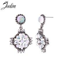 Joolim Jewelry Wholesale Elegant Retro Flower Drop Earring Dangle