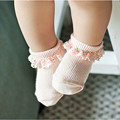 High Qualtity Baby Girls Princess Style Solid Cotton Lace Socks Inflant Non-slip Walking Children Floor Socks Kids Accessories
