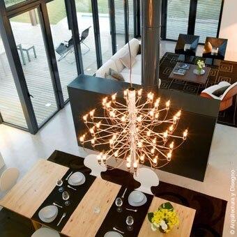 Mod 2097 Chandelier Gino Sarfatti 18/ 30/ 50 heads E14 bulbs pendant lamp residential dining room restaurant lighting Fixtures