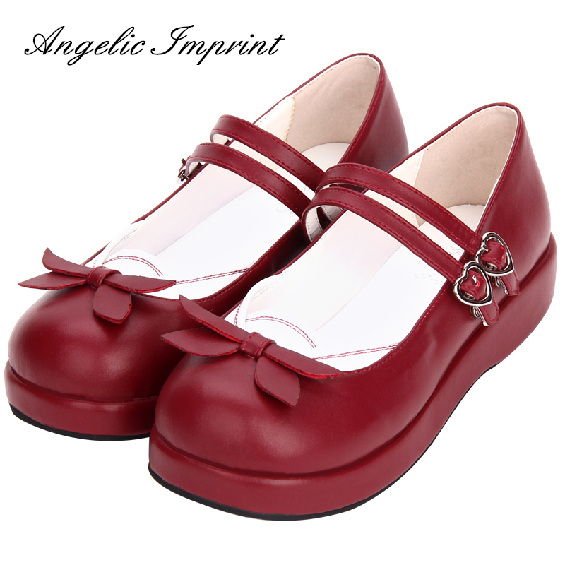 Japanese Sailor Style Sweet Lolita Shoes School Girl Uniform Mary Jane Pumps Shoes