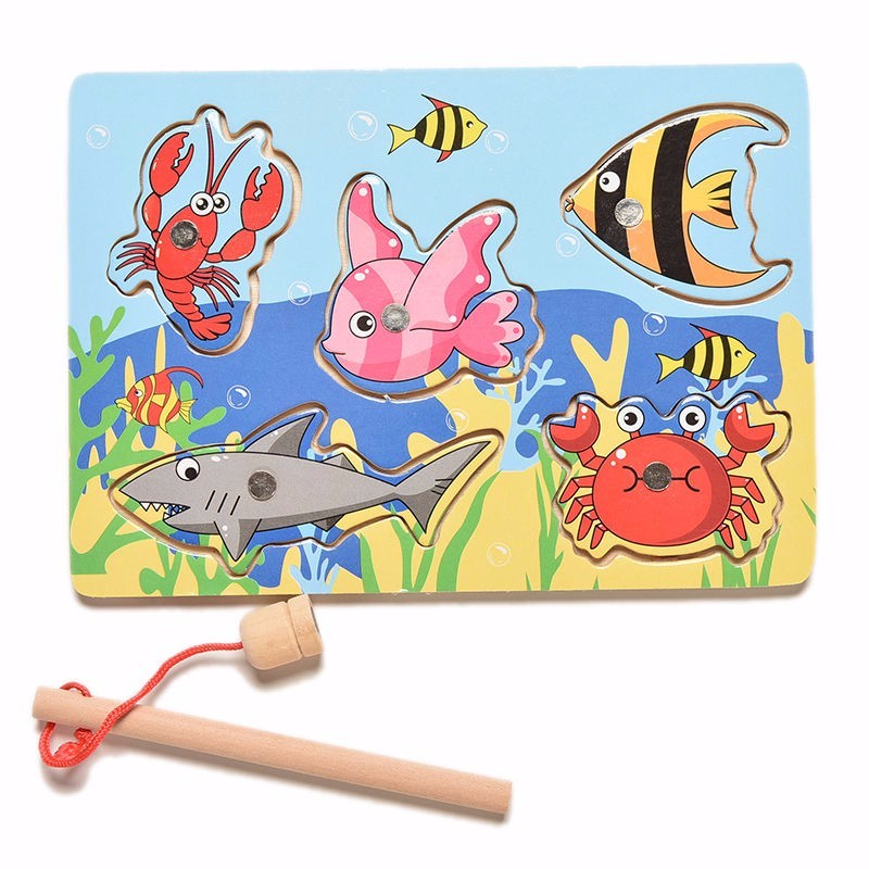 wholesale-price-Funny-Wooden-Magnetic-board-Fishing-Game-Jigsaw-Puzzle-pizarra-infantil-Children-Toy-good-gift-for-kids-5