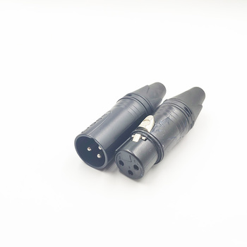 High Quality XLR 3 Pin Male Plug XLR Female Jack Audio Microphone Connector for MIC Soldering Straight Connector MIC Adapter 3p 4p 5p 6p 7p xlr microphone audio cable plug 3 4 5 6 7 pin xlr male female connector cable terminals for mic solder connectors