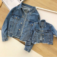 2019 PPXX Girl Women Jacket Jean Coat Mother Daughter Clothing Family Matching Clothes outfits Family Look Winter Autumn