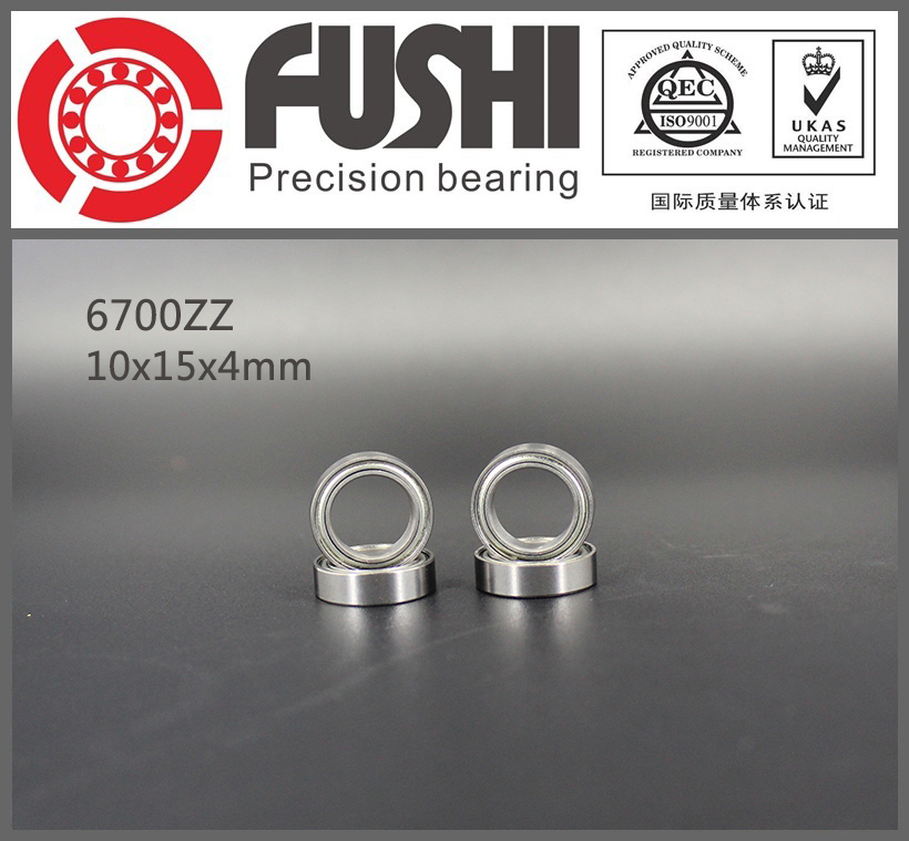 6700ZZ Bearing (10PCS) 10x15x4 MM Thin Section Deep Groove 6700 ZZ Ball Bearings 61700 ZZ 6700Z Z 6903zz bearing abec 1 10pcs 17x30x7 mm thin section 6903 zz ball bearings 6903z 61903 z