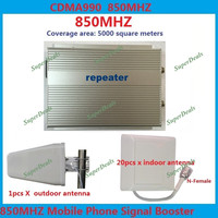 Mall High Power 5000 square meters 3W signal booster repeater gsm 2g mobile phone signal booster 850 LTE 4G repeater + antennas