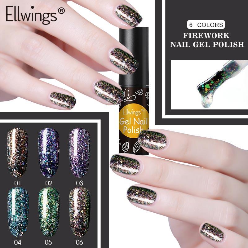 Us 0 99 35 Off Ellwings Black Gel Primer Nail Art Design Sparkly Firework Gel Varnish Acrylic Laser Glitter Uv Gel Nail Lacquer In Nail Gel From
