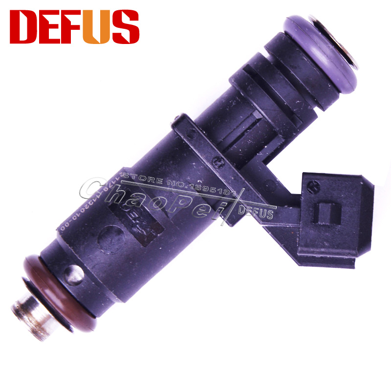 4PCS High Impedance Fuel Injector For Peugeot Replacement Nozzle Injectors Car Fuel Injection Flow Matched Auto Spare Parts