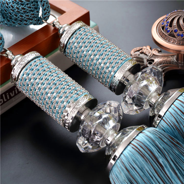 Luxury Fashion Crystal Decoration Curtain Clips Accessories Hanging Belt Curtain Strap Curtain Tassel Fastener Tieback Buckle