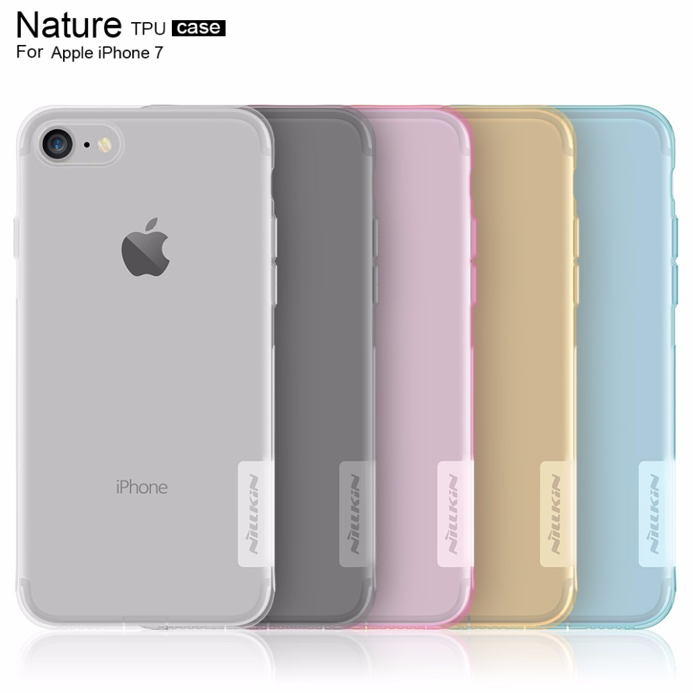 10pcs/lot Wholesale NILLKIN TPU Case For Apple iphone 7 iphone7 4.7inch Nature TPU Soft Case Luxury Back Protective Cover case