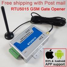 Gratis verzending RTU5015 GSM gate opener Operator Remote access controller 2 Digitale Ingang/1 Relais Uitgang Bijgewerkt App ondersteuning